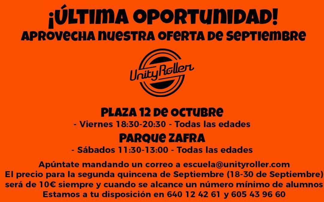 Huelva – ¡Últimos días para aprovechar nuestra oferta de Septiembre!