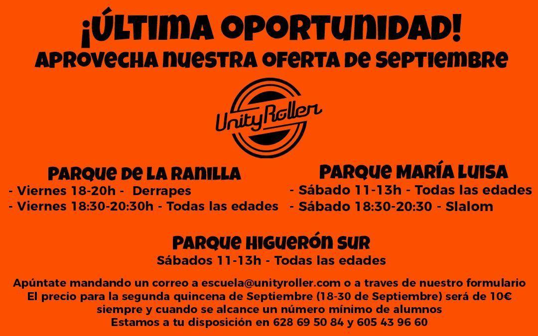 Sevilla – ¡Últimos días para aprovechar nuestra oferta de Septiembre!