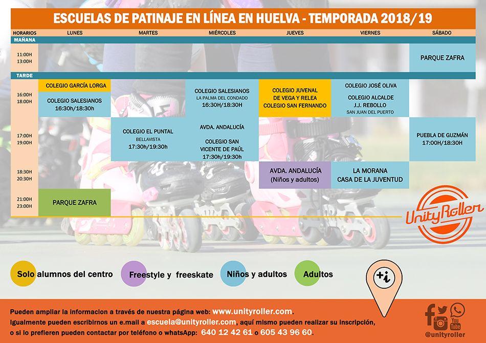 Nuestras escuelas de patinaje en Huelva