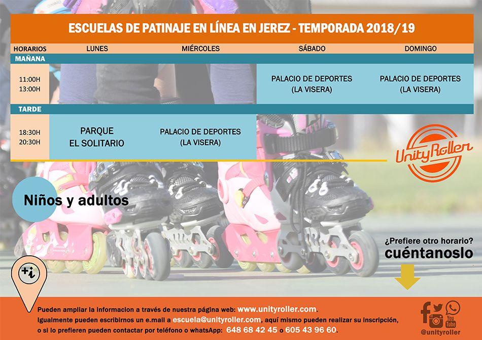 Nuestras escuelas de patinaje en Jerez