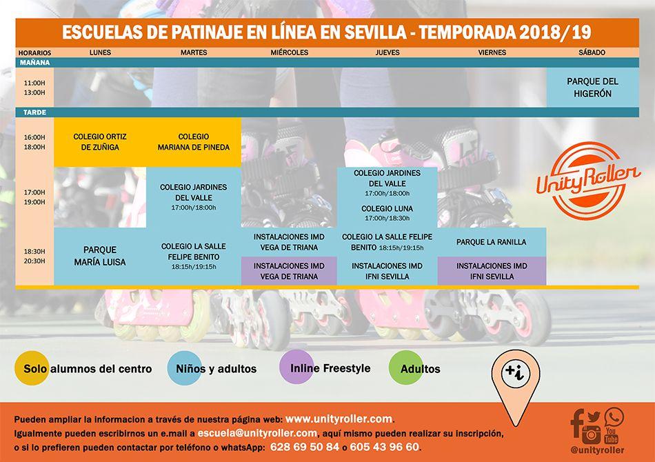 Nuestras escuelas de patinaje en Sevilla